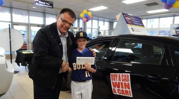 Unique Chrysler Charitable Support boys baseball team