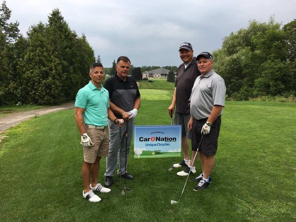 Unique Chrysler Charitable Support golf tournament fundraiser